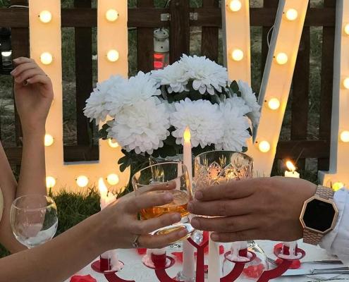 cafede evlilik teklifi organizasyonu
