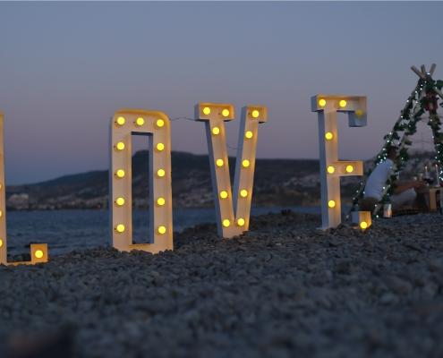 sahilde evlilik teklifi organizasyonu